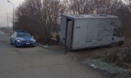 Camion carico di rame rubato viene recuperato dalla Polizia a Volpiano