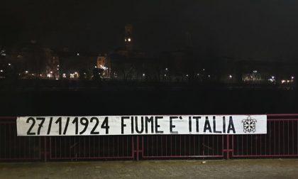 """A Ivrea Casapound appende striscione """"Fiume è Italia"""""""
