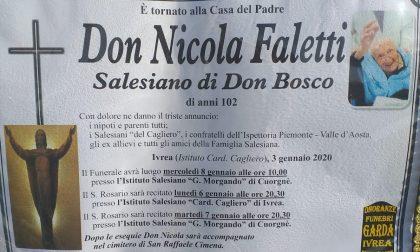 Funerali di don Nicola Faletti, cambiano giorno e luogo