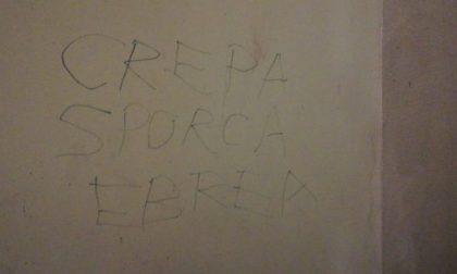 """Scritta antisemita  a Torino nel Giorno della Memoria: """"Crepa sporca ebrea"""""""
