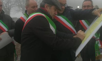 A Superga per il patto dei sindaci anche il primo cittadino di Valperga Gabriele Francisca