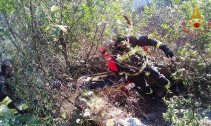 Persona in un dirupo a Balangero, soccorsi in corso