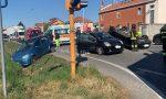 Incidente a Caselle, quattro auto coinvolte