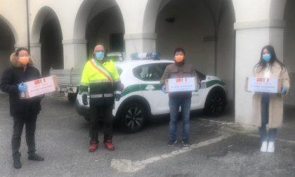 Mascherine e Dpi donati dalla Comunità Cinese alla città di Cuorgnè
