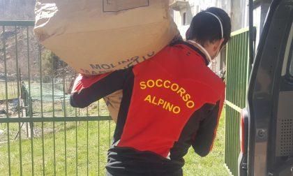 Il Soccorso Alpino consegna materiale di protezione in Canavese
