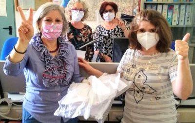Coronavirus donazione di mascherine all'ospedale di Cuorgnè. LA GALLERY