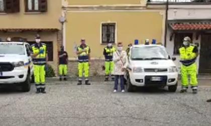 La Protezione civile ha onorato le vittime del Covid-19
