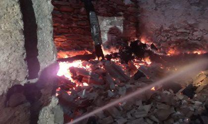Legnaia a fuoco in Valchiusella