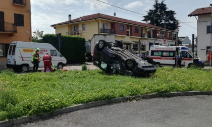 Incidente tra Favria e Oglianico, due feriti | FOTO