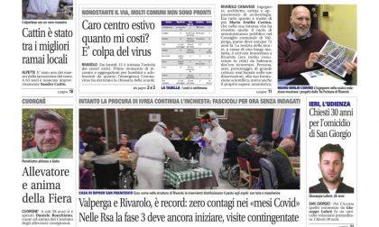 Il Canavese – edizione Rivarolo (del 17 giugno) in edicola. Ecco la prima pagina