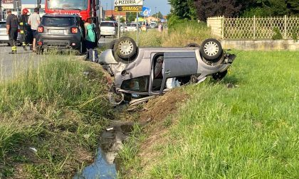 Leini: incidente stradale in via Caselle, 49enne elitrasportato al Cto