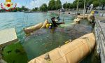 Piccola imbarcazione affonda nel lago di Viverone, recuperata dai Vigili del fuoco