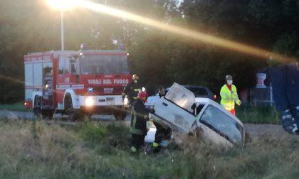 Incidente a Ciconio, furgone esce di strada   FOTO