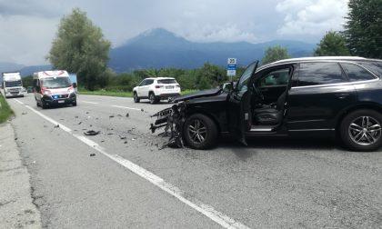 Incidente sulla SP460 a Salassa, due auto coinvolte