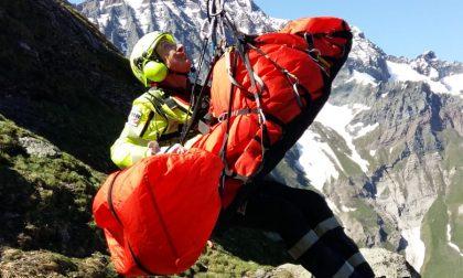 Escursionista precipita nelle Valli di Lanzo, elitrasportata in ospedale | FOTO