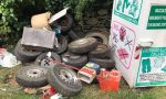 Incivili in azione a Chiaverano: pneumatici e rifiuti selvaggiamente abbandonati
