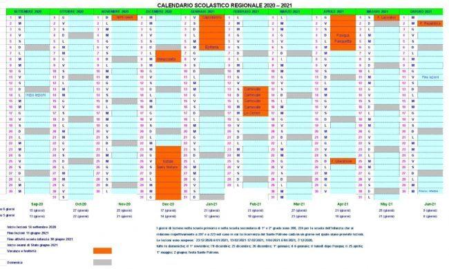 Calendario Scolastico 2020 2021 Torino Calendario scolastico 2020 2021 Piemonte: si torna a scuola il 14