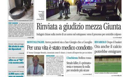 Il Canavese – edizione Rivarolo (del 22 luglio) in edicola. Ecco la prima pagina