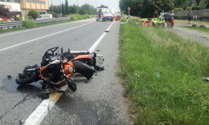 Valperga: scontro tra un'auto e una moto sull'ex statale 460