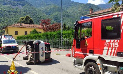 Scontro fra due auto a Sant'Antonino di Susa | FOTO