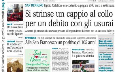 Il Canavese – edizione Rivarolo (del 09 settembre) in edicola. Ecco la prima pagina
