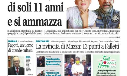 Il Canavese – edizione Rivarolo (del 23 settembre) in edicola. Ecco la prima pagina