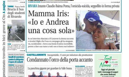 Il Canavese – edizione Rivarolo (del 30 settembre) in edicola. Ecco la prima pagina