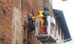 Nido di calabroni sul muro della Rsa di Vestignè, intervento dei Vigili del fuoco