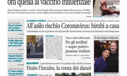 Il Canavese – edizione Rivarolo (del 07 ottobre) in edicola. Ecco la prima pagina