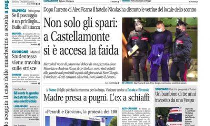 Il Canavese – edizione Rivarolo (del 14 ottobre) in edicola. Ecco la prima pagina