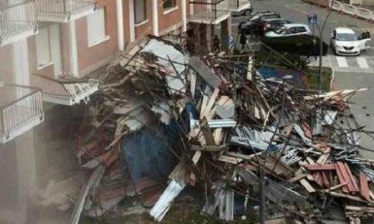 Ponteggio crolla a Borgaro: in corso gli accertamenti