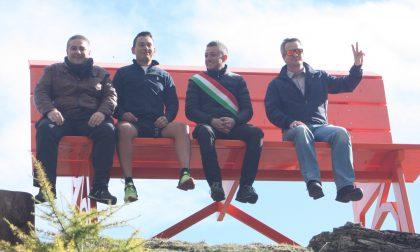 Inaugurata a Piamprato la prima big bench dell'alto Canavese