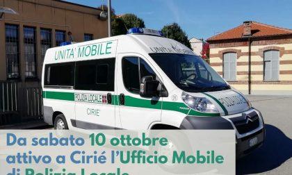 Ufficio mobile della Polizia locale a Ciriè