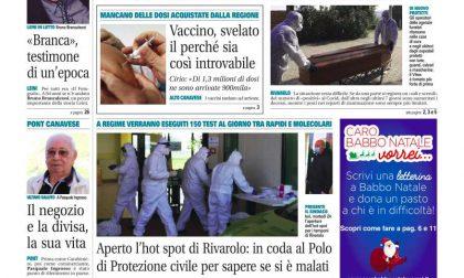 Il Canavese – edizione Rivarolo (del 25 novembre) in edicola. Ecco la prima pagina
