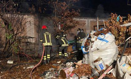 Incendio  nell'ex lanificio