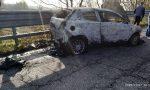 Auto a fuoco durante la marcia, paura a Borgaro