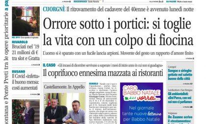 Il Canavese – edizione Rivarolo (del 09 dicembre) in edicola. Ecco la prima pagina