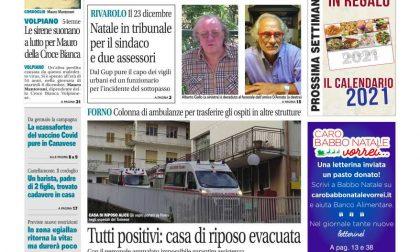 Il Canavese – edizione Rivarolo (del 16 dicembre) in edicola. Ecco la prima pagina