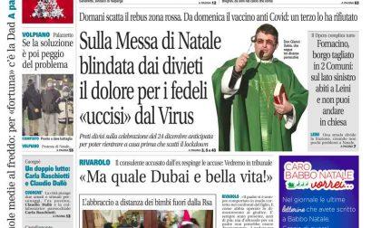 Il Canavese – edizione Rivarolo (del 23 dicembre) in edicola. Ecco la prima pagina