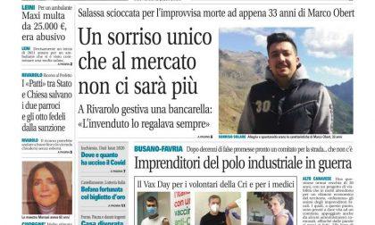 Il Canavese – edizione Rivarolo (del 13 gennaio) in edicola. Ecco la prima pagina