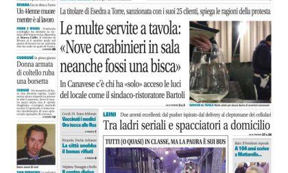 Il Canavese – edizione Rivarolo (del 20 gennaio) in edicola. Ecco la prima pagina