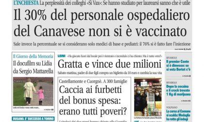 Il Canavese – edizione Rivarolo (del 27gennaio) in edicola. Ecco la prima pagina