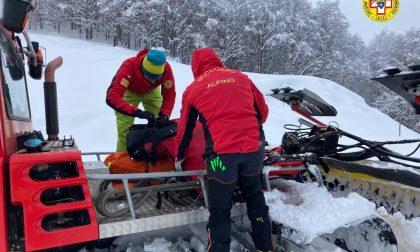 Scialpinista recuperato nel biellese: illeso