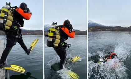 Addestramento dei sommozzatori al lago Sirio