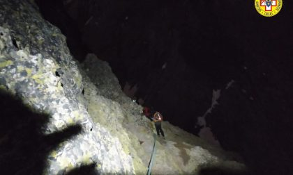 Recuperato l'alpinista bloccato in Val Maira