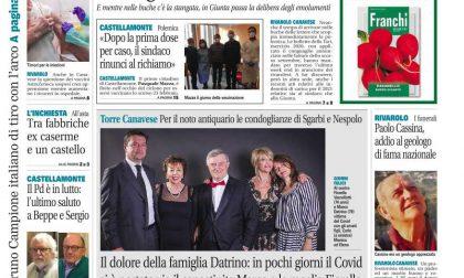 Il Canavese – edizione Rivarolo (del 17 marzo) in edicola. Ecco la prima pagina