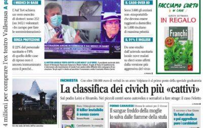 Il Canavese – edizione Rivarolo (del 31 marzo) in edicola. Ecco la prima pagina