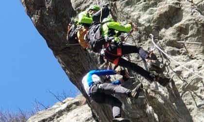 Disavventura per un alpinista soccorso a Pont Canavese
