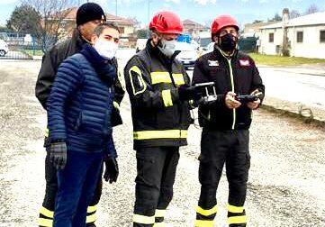 Area a disposizione dei Vigili del fuoco in caso di calamità