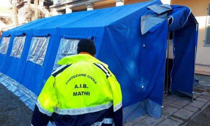 Sono oltre 80 i tamponi effettuati nella tenda a Villa Bosso